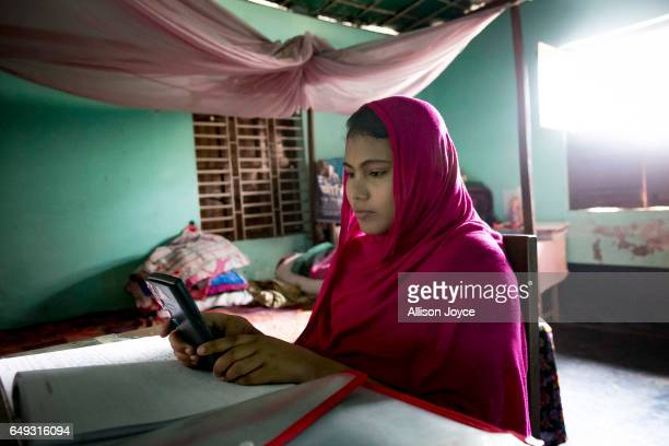 Rani studies for an exam on March 6 2017 in Khulna division Bangladesh Rani who is now 16 was under pressure to marry a boy when she was 14yearsold...