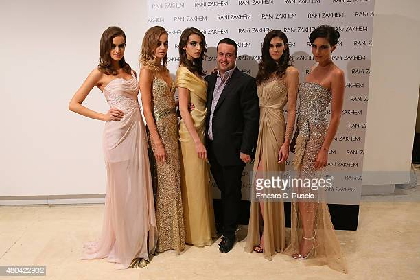 Rani Zakhem and models during his fashion show as a part of the AltaRoma AltaModa Fashion Week Fall/Winter 2015/16 at Palazzo Delle Esposizioni on...