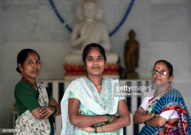 Ranjana Awhade Archana Gangavane and Dhanashree Patel are three of the 'Barefoot counsellors' trained to fight and prevent Domestic violence and...