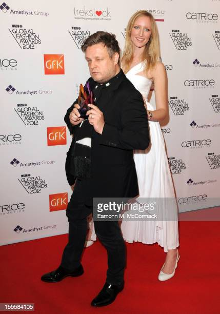 Rankin with his Hall of Fame award and Jade Parfitt during the WGSN Global Fashion Awards at The Savoy Hotel on November 5 2012 in London England