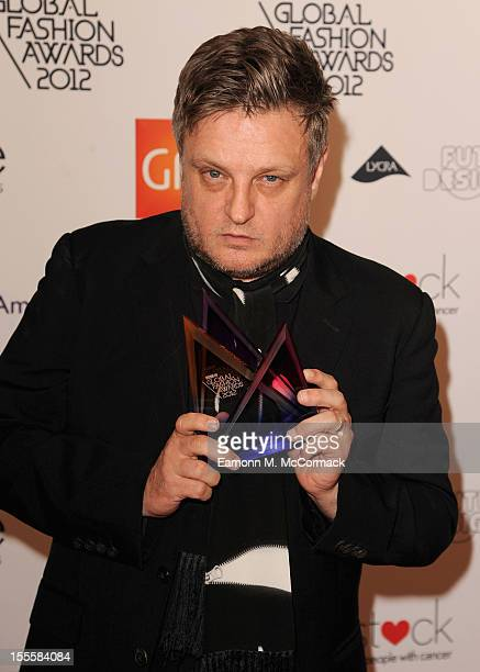 Rankin with his Hall of Fame award during the WGSN Global Fashion Awards at The Savoy Hotel on November 5 2012 in London England
