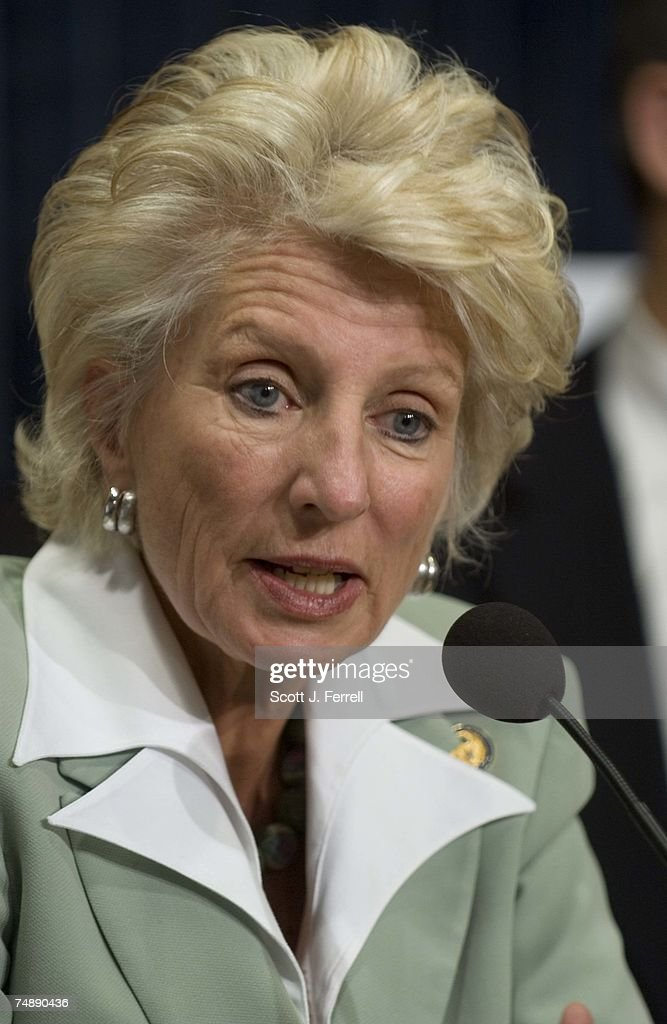 Ranking member Jane Harman DCalif during a news conference after the House Intelligence Committee approved legislation by Heather Wilson RNM the...
