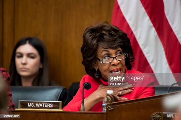 Ranking member Maxine Waters DCalif participates in the House Financial Services Committee meeting to organize for the 115th Congress on Thursday Feb...
