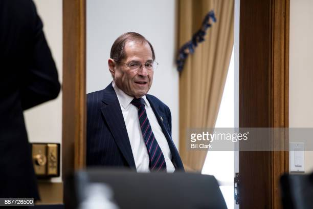 Ranking member Rep Jerrold Nadler DNY arrives for the House Judiciary Committee hearing on oversight of the Federal Bureau of Investigation on...