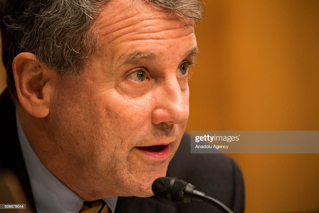 Ranking Member Senator Sherrod Brown delivers his opening statement during a Senate Banking Committee hearing on the semiannual monetary report to Congress in Washington, USA on February 11, 2016.
