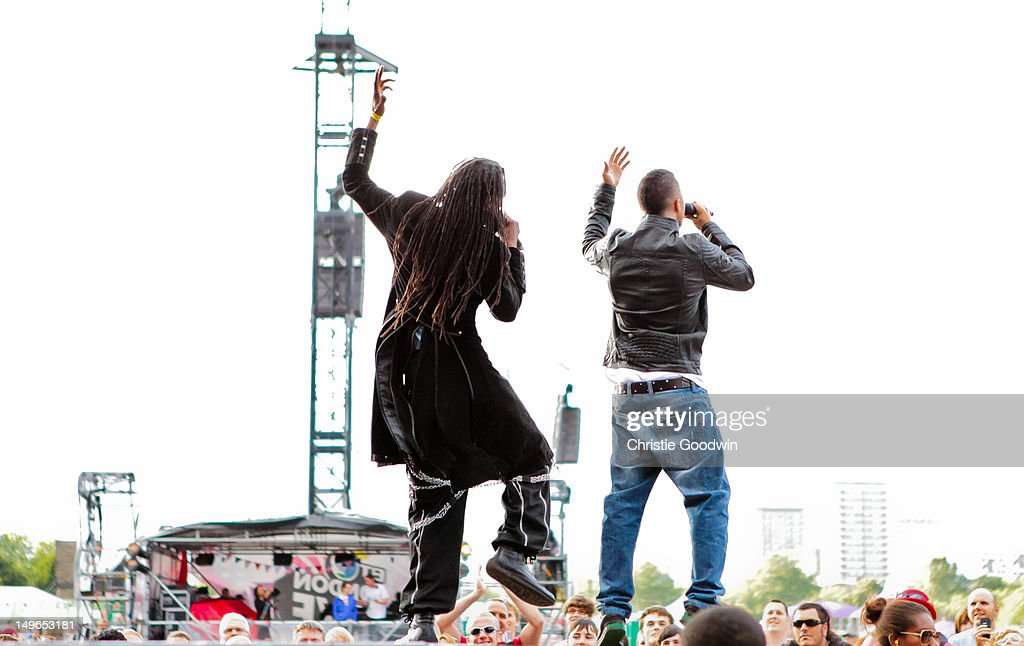 Ranking Roger and Murphy Ranking Jnr of The Beat perform on stage during BT London Live at Hyde Park on August 1, 2012 in London, United Kingdom.