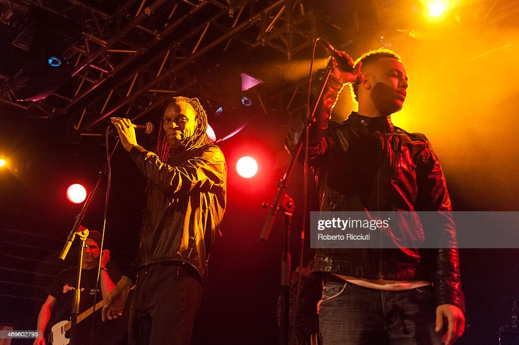 Ranking Roger and Ranking Junior of The Beat perform on stage at The Liquid Room on February 15, 2014 in Edinburgh, United Kingdom.