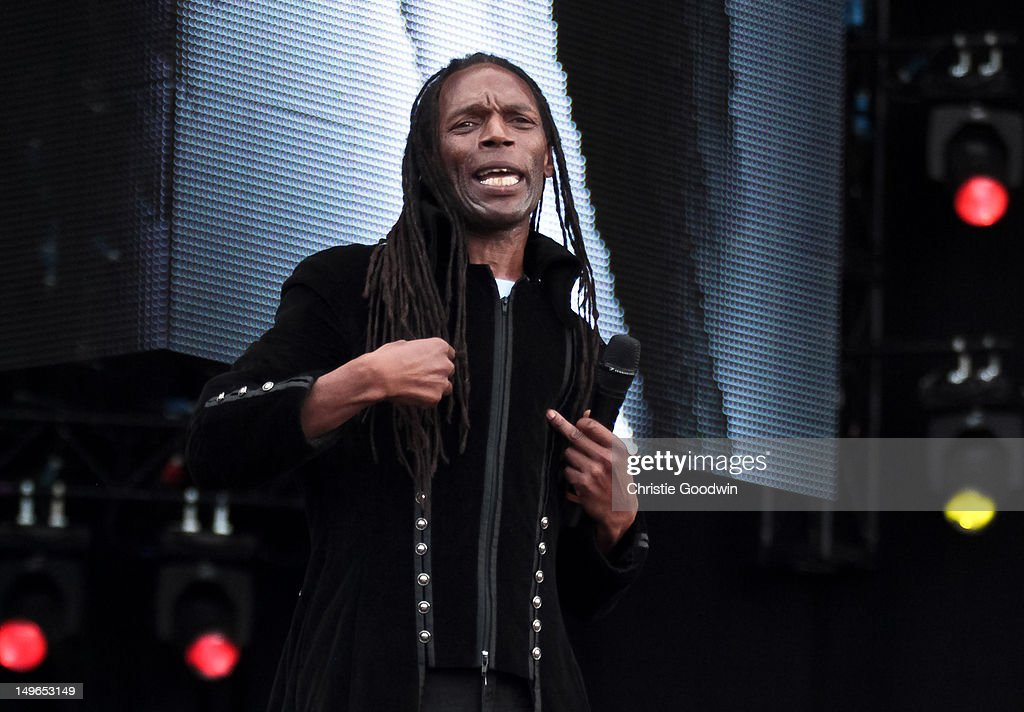Ranking Roger of The Beat performs on stage during BT London Live at Hyde Park on August 1, 2012 in London, United Kingdom.