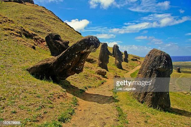 Rano Raraku Moaï in Rapa Nui (Easter Island