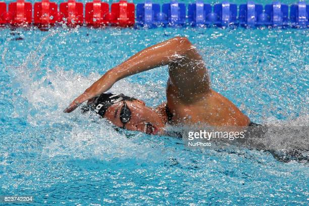 Ranomi Kromowidjojo competes during the Women's 100m Freestyle semi final on day fourteen of the Budapest 2017 FINA World Championships on July 27...