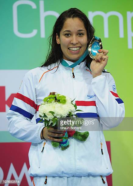 Ranomi Kromowidjojo of Netherlands wins the gold medal in the final of the Women's 100m Freestyle during the 10th FINA World Swimming Championships...