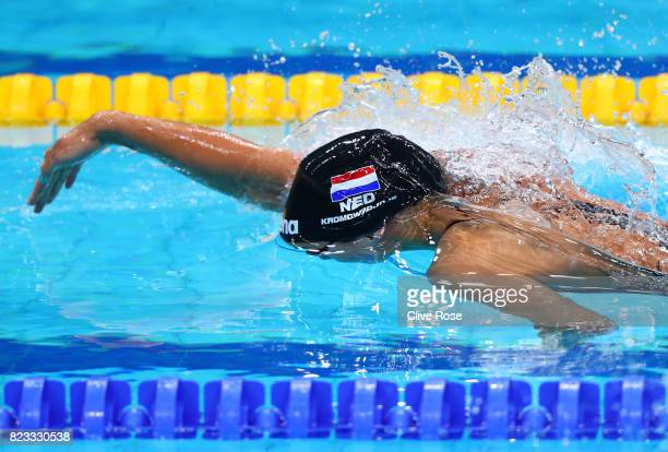 Ranomi Kromowidjojo of the Netherlands competes during the Women's 100m Freestyle Heats on day fourteen of the Budapest 2017 FINA World Championships...