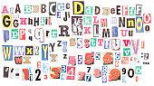 Ransom note alphabets XXXL
