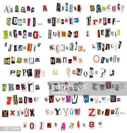 Ransom Note Magazine and Newspaper Cutouts