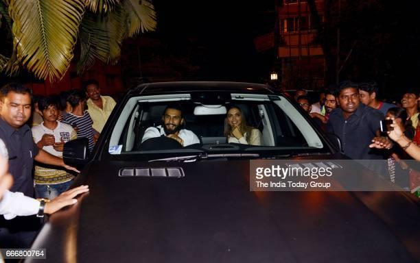 Ranveer Singh and Deepika Padukone at Karan Johar's party in Mumbai