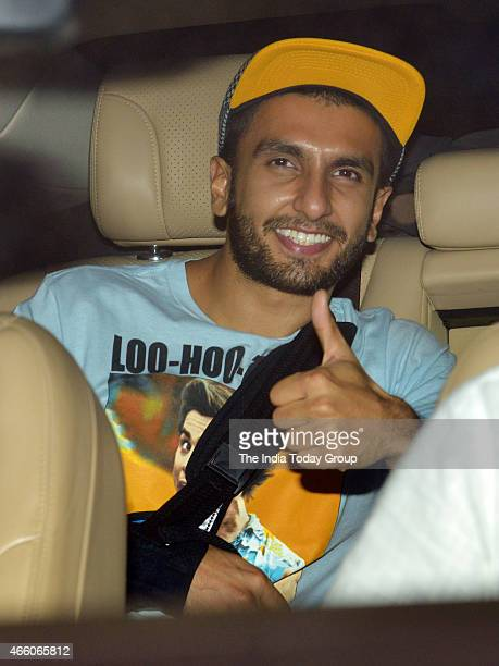 Ranveer Singh at the screening of the movie NH10 in Mumbai