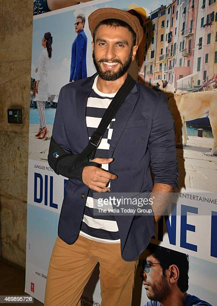 Ranveer Singh at the trailer launch of his upcoming movie Dil Dhadkane Do in Mumbai