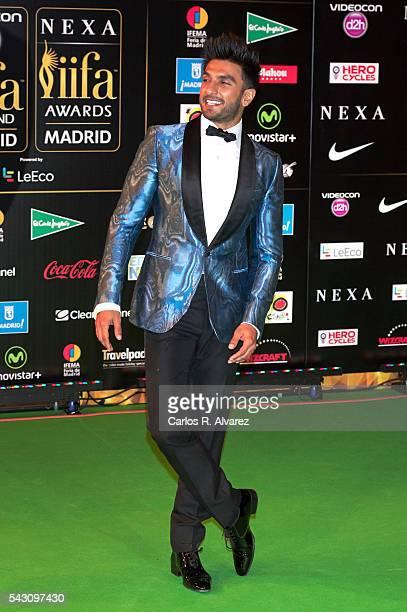 Ranveer Singh attends the 17th IIFA Awards at Ifema on June 25 2016 in Madrid Spain