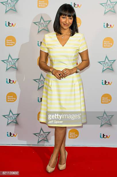 Ranvir Singh arrives for Good Morning Britain's Health Star Awards at Hilton Park Lane on April 14 2016 in London England