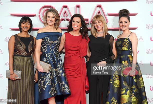 Ranvir Singh Charlotte Hawkins Susanna Reid Kate Garraway and Laura Tobin attend the ITV Gala at London Palladium on November 24 2016 in London...