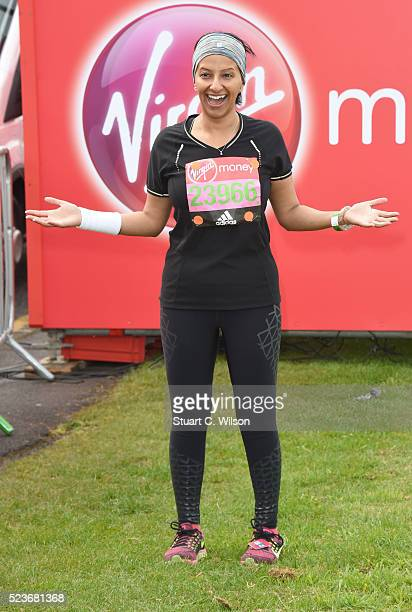 Ranvir Singh starts the Virgin London Marathon 2016 on April 24 2016 in London England