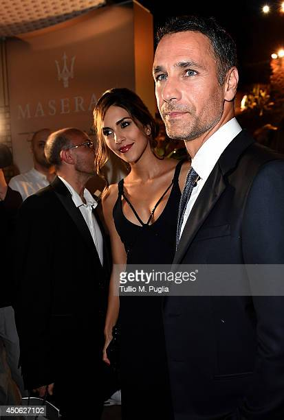 Raoul Bova and Rocio Munoz Morales attend the 60th Taormina Film Festival on June 14 2014 in Taormina Italy