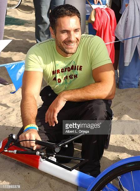 Raoul Bova during 19th Annual Nautica Malibu Triathlon Race at Zuma Beach in Malibu California United States