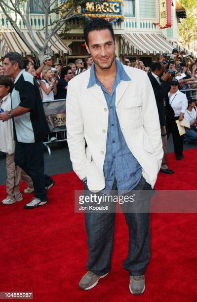 Raoul Bova during 'Pirates of the Caribbean The Curse of the Black Pearl' World Premiere at Disneyland in Anaheim California United States