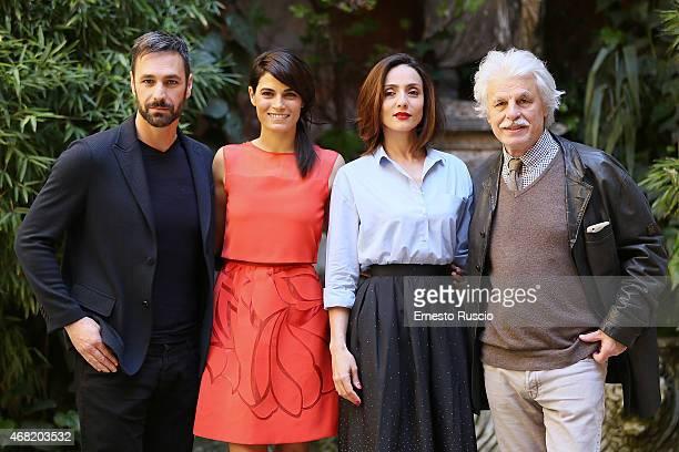Raoul Bova Valeria Solarino Ambra Agiolini and Michele Placido attend the 'La Scelta' photocall at Via Delle Quattro Fontane on March 31 2015 in Rome...