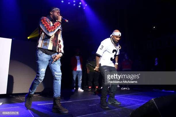 Rap artist 2 Chainz and Young Jeezy perform at The Tabernacle on March 22 2017 in Atlanta Georgia