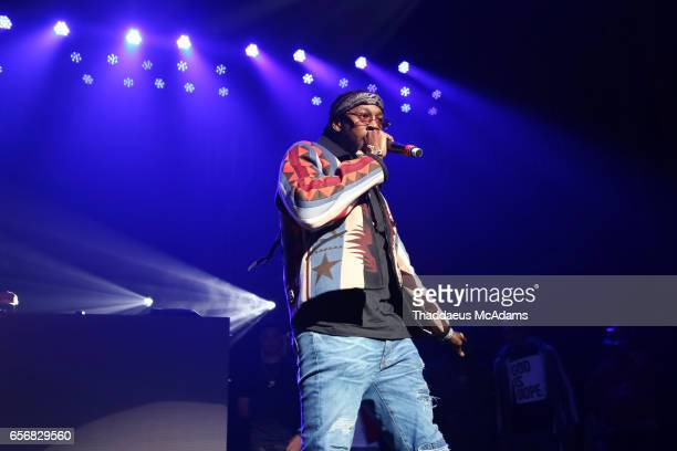 Rap artist 2 Chainz performs with Young Jeezy at The Tabernacle on March 22 2017 in Atlanta Georgia