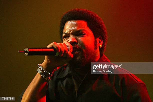 Rap artist Ice Cube performs on stage in concert as part of his 'Straight outta Compton' tour at The Forum on September 3 3007 in Melbourne Australia