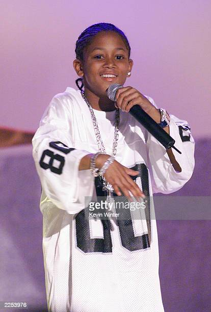 Rap artist Lil' Romeo performs on ABC Family's FRONT ROW CENTER at the Wadsworth Theatre Los Angeles CA Nov 10 2001 FRONT ROW CENTER airs Friday...