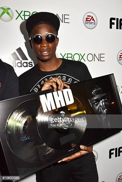 Rap artist MHD attends FIFA Xperience at Cercle Cadet on September 26 2016 in Paris France