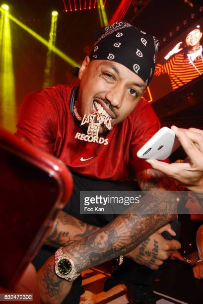 Rap artist Murdar Marz attends the Tyga Party at VIP Room as part of SaintTropez Party On French Riviera on August 15 2017 in SaintTropez France