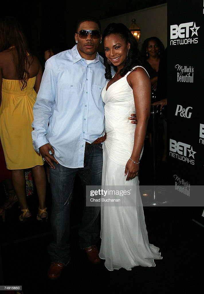 Rap artist Nelly and singer Ashanti attend the 1st Annual Pre-BET Awards Party at Boulevard 3 on June 25, 2007 in Los Angeles, California.
