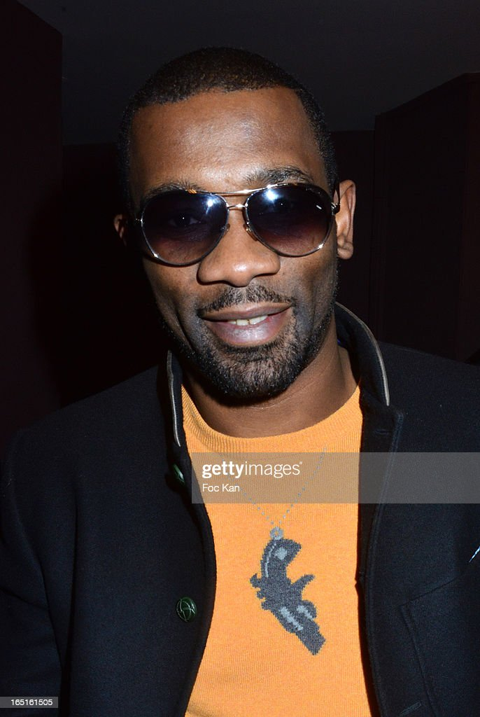 Rap artist Passi attends the 'OmarJeans' Launch Party At The Pavillon Champs Elysees on March 31, 2013 in Paris, France.