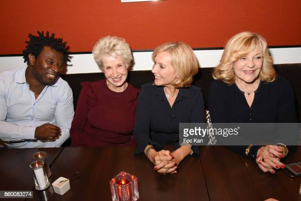Rap artist Rost former TV presenter Daniele Gilbert TV presenter Fabienne Amiach and singer Nicoletta attend Olivier Michel Private Dinner Party at...