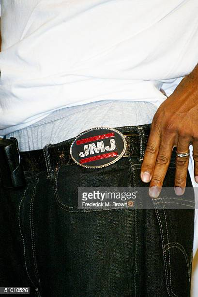 Rap legend Darryl McDaniels of RunDMC poses backstage at the 2004 Black Entertainment Awards held at the Kodak Theatre on June 29 2004 in Hollywood...