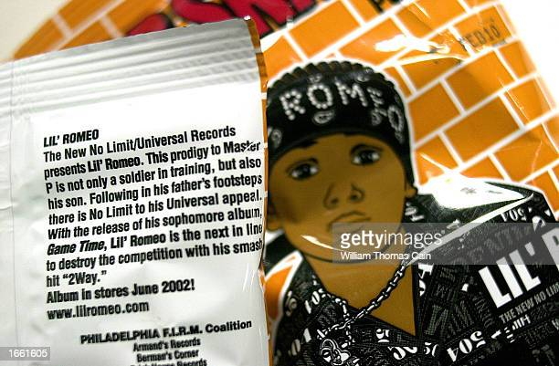 Rap Snacks potato chips featuring rapper Lil' Romeo show a short biography on the rear of the package and a picture on the front November 26 in...