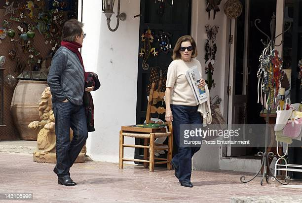 Raphael and Natalia Figeroa are seen on April 2 2012 in Ibiza Spain
