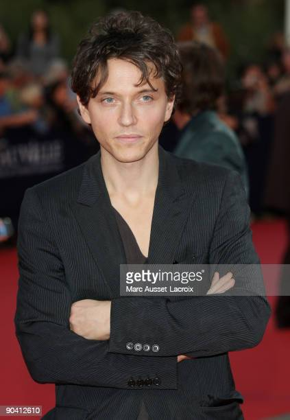 Raphael arrives for the screening of the movie 'Me and Orson Welles' at the 35th American Film Festival in Deauville on September 6 2009 in Deauville...
