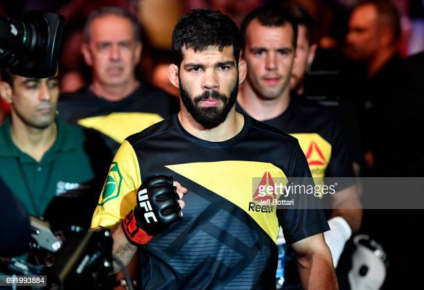 Raphael Assuncao of Brazil prepares to enter the Octagon prior to his bantamweight bout against Marlon Moraes during the UFC 212 event at Jeunesse...