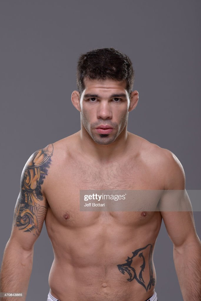 Raphael Assuncao poses for a portrait during a UFC photo session on February 20 2014 in Las Vegas Nevada