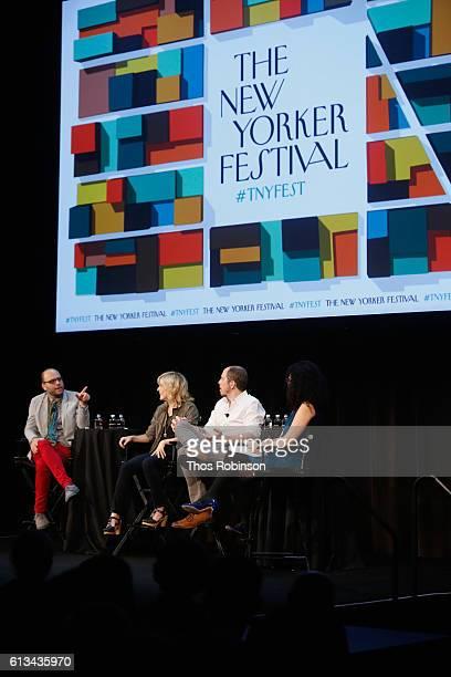Raphael BobWaksberg Maria Bamford Stephan Falk and Emily Nussbaum speak at The New Yorker Festival 2016 'Crazy Funny Mental Health And TV Comedy'...