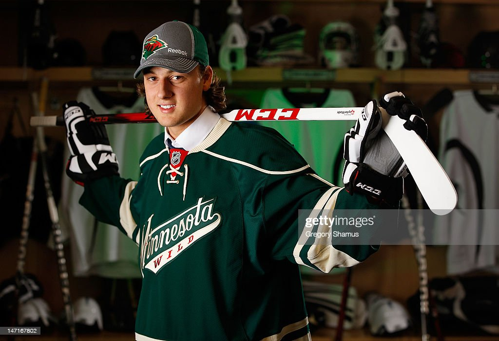 Raphael Bussieres, 46th overall pick by the Minnesota Wild, poses for a portrait during the 2012 NHL Entry Draft at Consol Energy Center on June 23, 2012 in Pittsburgh, Pennsylvania.