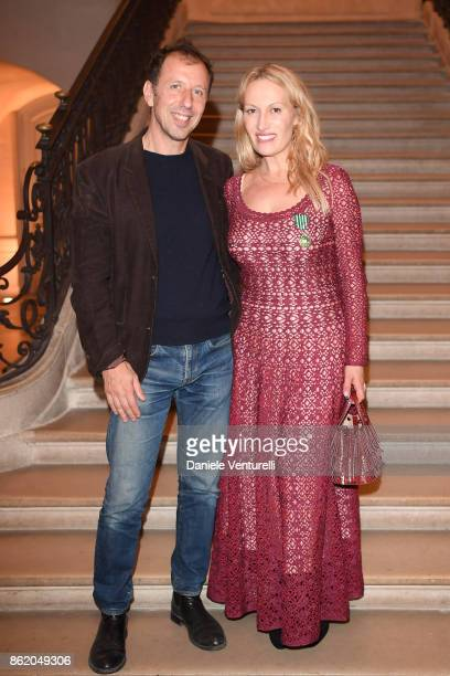 Raphael Elig attends a cocktail in honour of Diana Widmaier Picasso and Alexander SC Rower awarded with the Chevalier and Officier de Ordre des Arts...