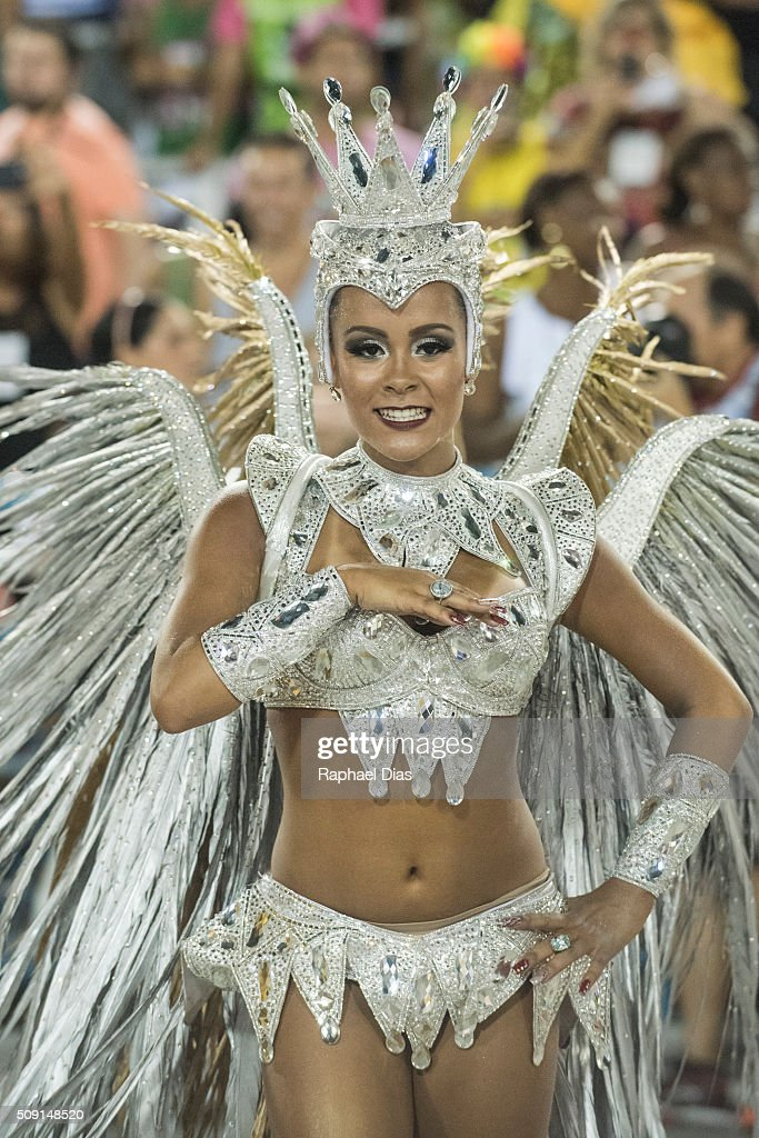 Raphael Gomes attends to the Rio Carnival in Sambodromo on February 8, 2016 in Rio de Janeiro, Brazil. Despite the Zika virus epidemic, thousands of tourists gathered in Rio de Janeiro for the carnival.