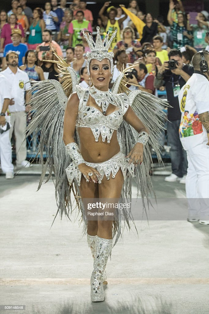 Raphael Gomes attends to the Rio Carnival in Sambodromo on February 8, 2016 in Rio de Janeiro, Brazil. Despite the Zika virus epidemic, thousands of tourists gathered in Rio de Janeiro for the carnival.