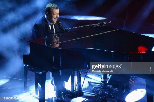 Raphael Gualazzi attend the opening night of the 63rd Sanremo Song Festival at the Ariston Theatre on February 12 2013 in Sanremo Italy